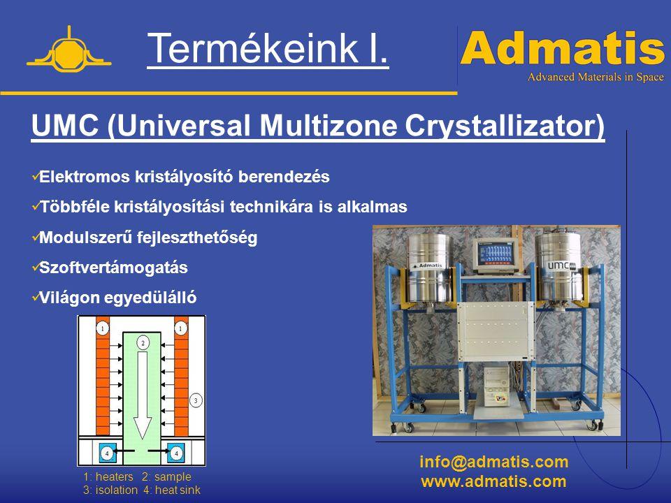 info@admatis.com www.admatis.com UMC (Universal Multizone Crystallizator)  Elektromos kristályosító berendezés  Többféle kristályosítási technikára