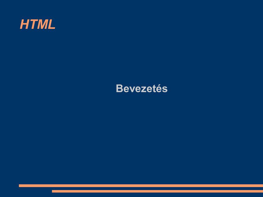 HTML Bevezetés