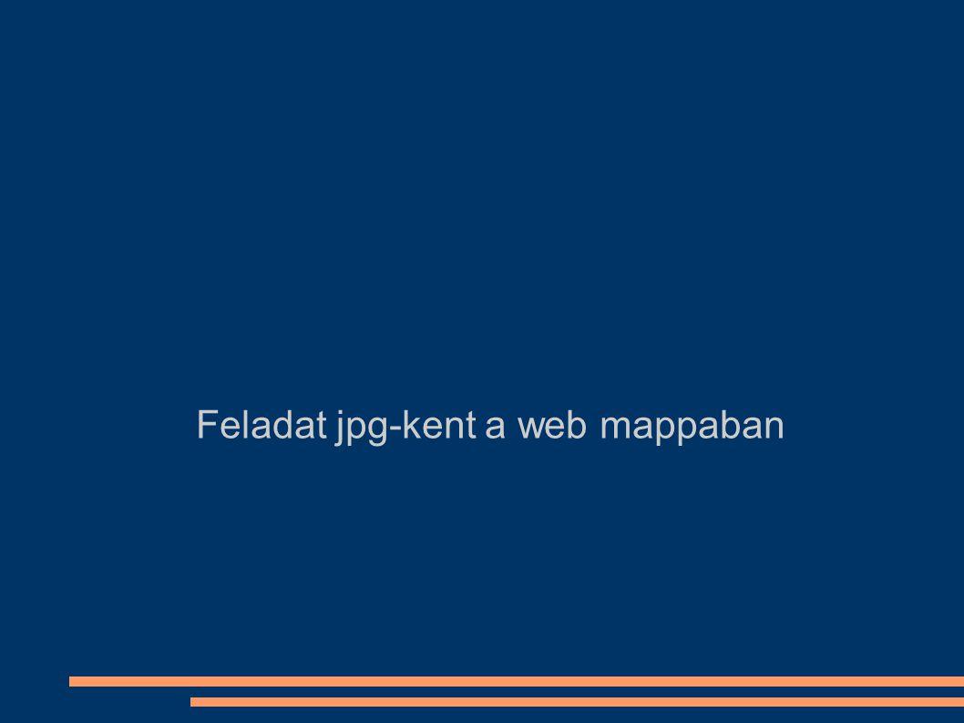 Feladat jpg-kent a web mappaban