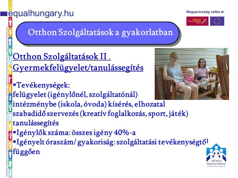 Otthon Szolgáltatások a gyakorlatban Otthon Szolgáltatások II.