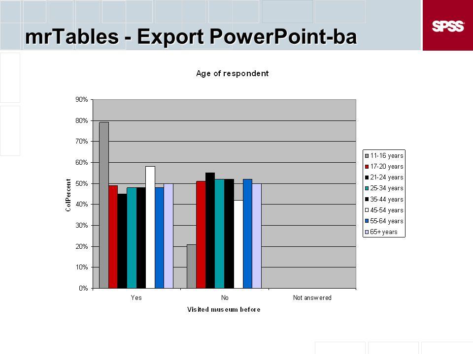 mrTables - Export PowerPoint-ba