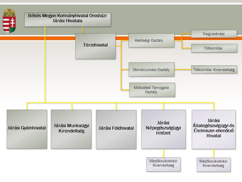 Tapasztalatok •Államigazgatási feladatok intézésének egységes gyakorlata •Ügysegédi hálózat ügyfélközpontú megvalósítása •Azonos irányelvek és elvárások szerinti működtetés •Hatékonyság, költségtakarékosság •A hivatalvezető és a megyei szakigazgatási szerv vezetői hatásköreinek elhatárolása •Informatikai infrastruktúra nehézségei •Létszámproblémák kezelése járási szinten •Képzett szakemberek megőrzése •Kormányablak ügyintézői képzés (új képzés, ösztönzés)