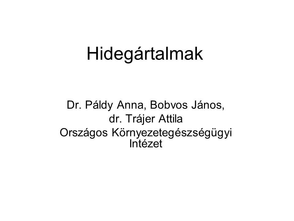 Hidegártalmak Dr. Páldy Anna, Bobvos János, dr. Trájer Attila Országos Környezetegészségügyi Intézet