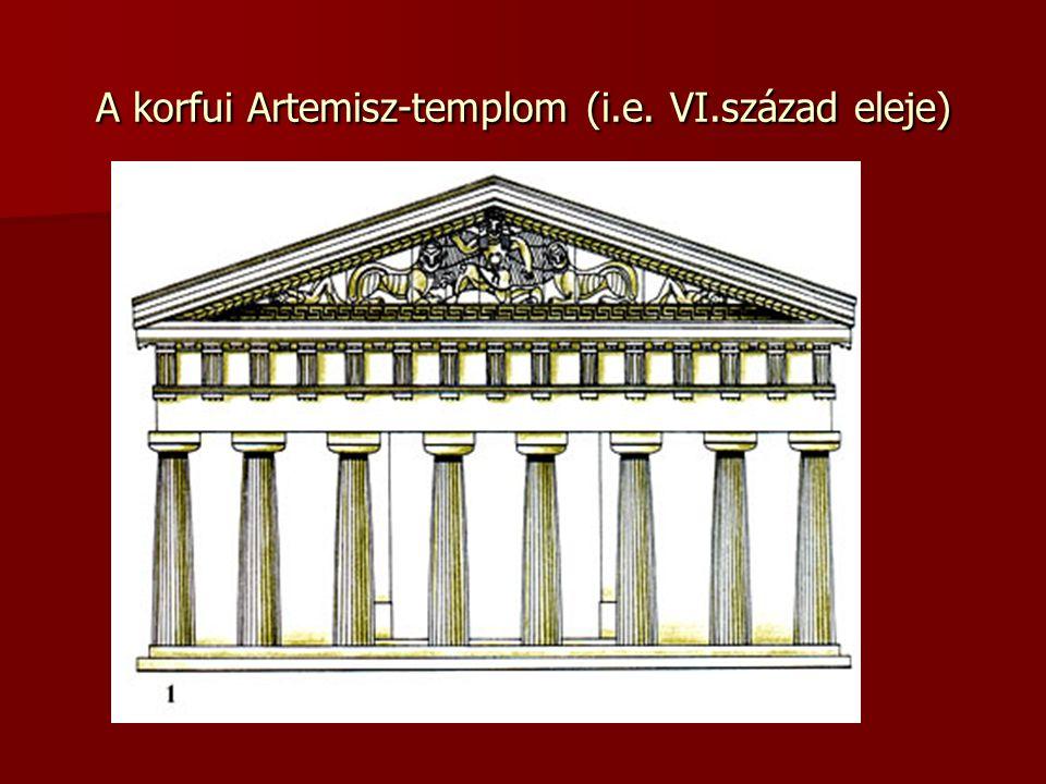 A korfui Artemisz-templom (i.e. VI.század eleje)