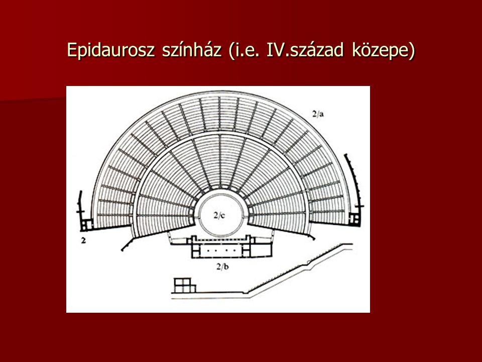 Epidaurosz színház (i.e. IV.század közepe)