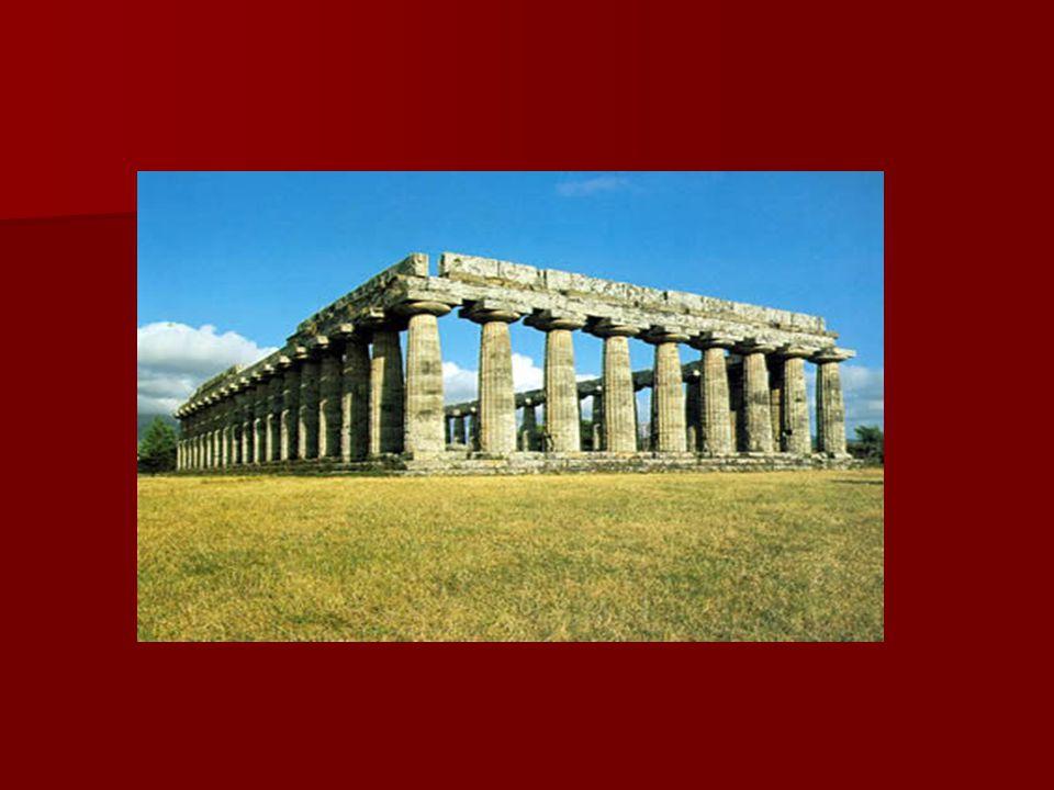  A görögök társadalmában nagyfokú munkamegosztás volt, a művészet, az építészet önálló hivatás lett.
