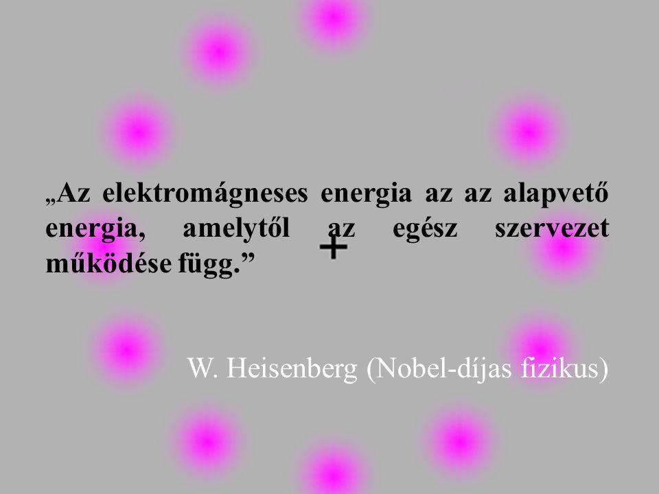 """Köszönöm megtisztelő figyelmüket """" Az elektromágneses energia az az alapvető energia, amelytől az egész szervezet működése függ."""" W. Heisenberg (Nobel"""