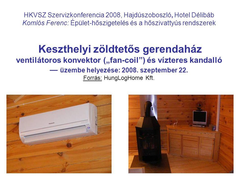 17 HKVSZ Szervizkonferencia 2008, Hajdúszoboszló, Hotel Délibáb Komlós Ferenc: Épület-hőszigetelés és a hőszivattyús rendszerek Keszthelyi zöldtetős g