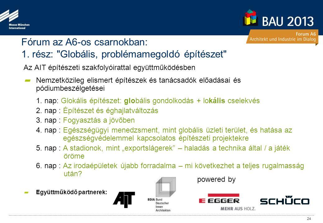 Az AIT építészeti szakfolyóirattal együttműködésben Nemzetközileg elismert építészek és tanácsadók előadásai és pódiumbeszélgetései 1.