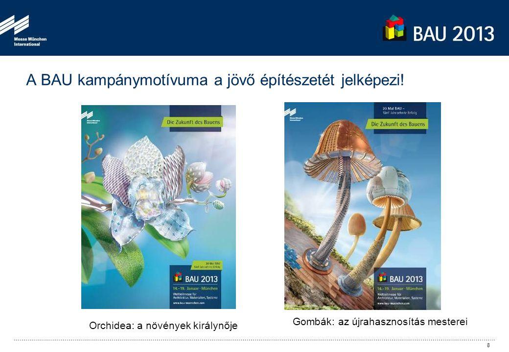 A BAU kampánymotívuma a jövő építészetét jelképezi.