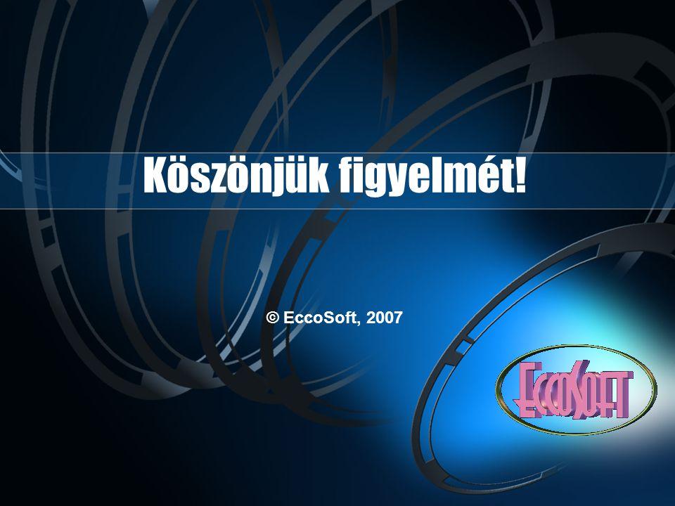 Köszönjük figyelmét! © EccoSoft, 2007