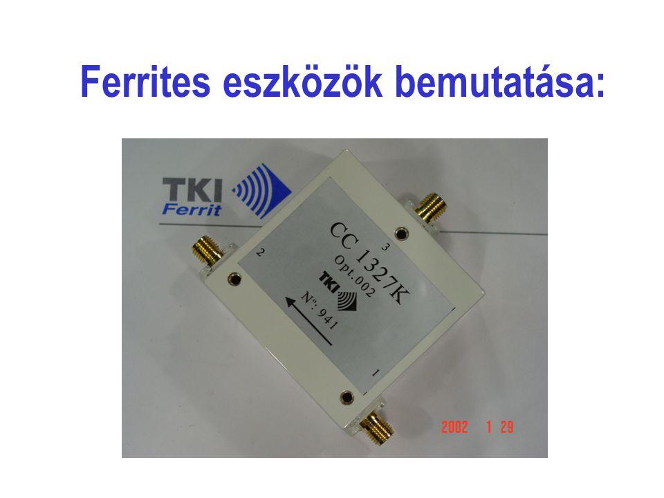 A pályázat témája: Mikrohullámú ferritek és kerámia dielektrikumok összehangolt fejlesztése a távközlési ipar számára nélkülözhetetlen mikrohullámú alkatrészek - ferrites eszközök (izolátorok, cirkulátorok) - előállításához.