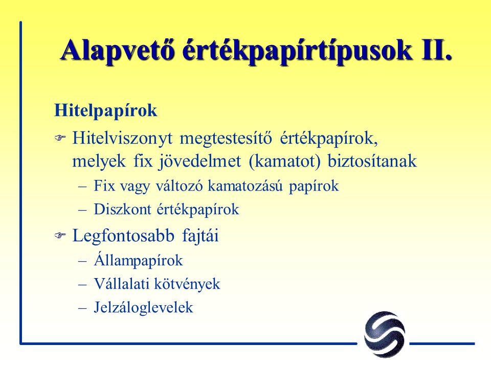 Egyéb részvényindexek a BÉT gondozásában RAX - A befektetési alapkezelők által használt referenciaindex, 13 fix súlyú részvénnyel CESI - euro alapú regionális részvényindex Budapest, Prága, Varsó, Pozsony és Ljubljana papírjaival, pontosan leképezve az egyes részpiacok súlyát CETOP20 - regionális blue-chip index a 20 legnagyobb forgalmú és kapitalizációjú részvénnyel