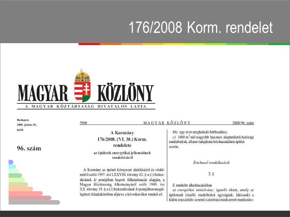 176/2008 Korm. rendelet