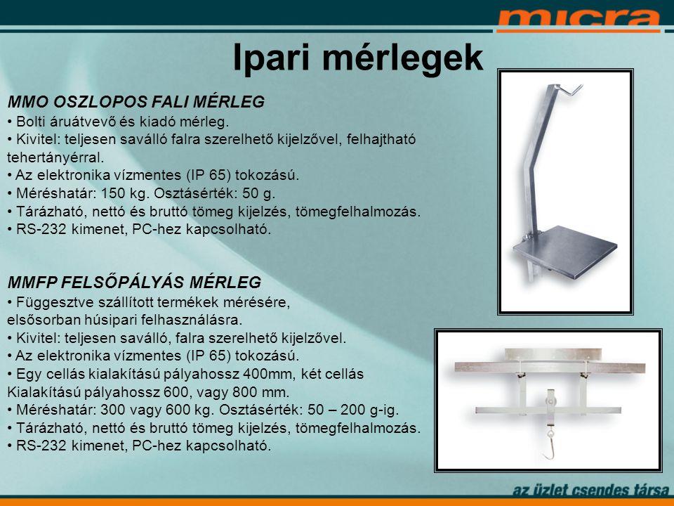 Ipari mérlegek MMO OSZLOPOS FALI MÉRLEG • Bolti áruátvevő és kiadó mérleg.