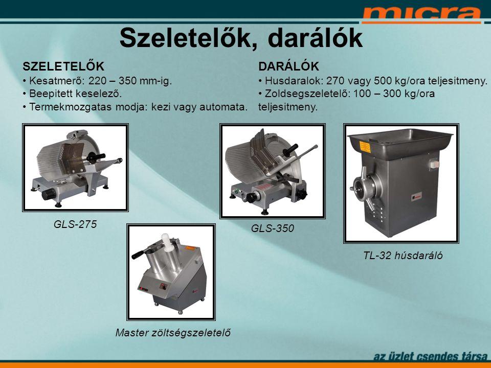 Szeletelők, darálók SZELETELŐK • Kesatmerő: 220 – 350 mm-ig.