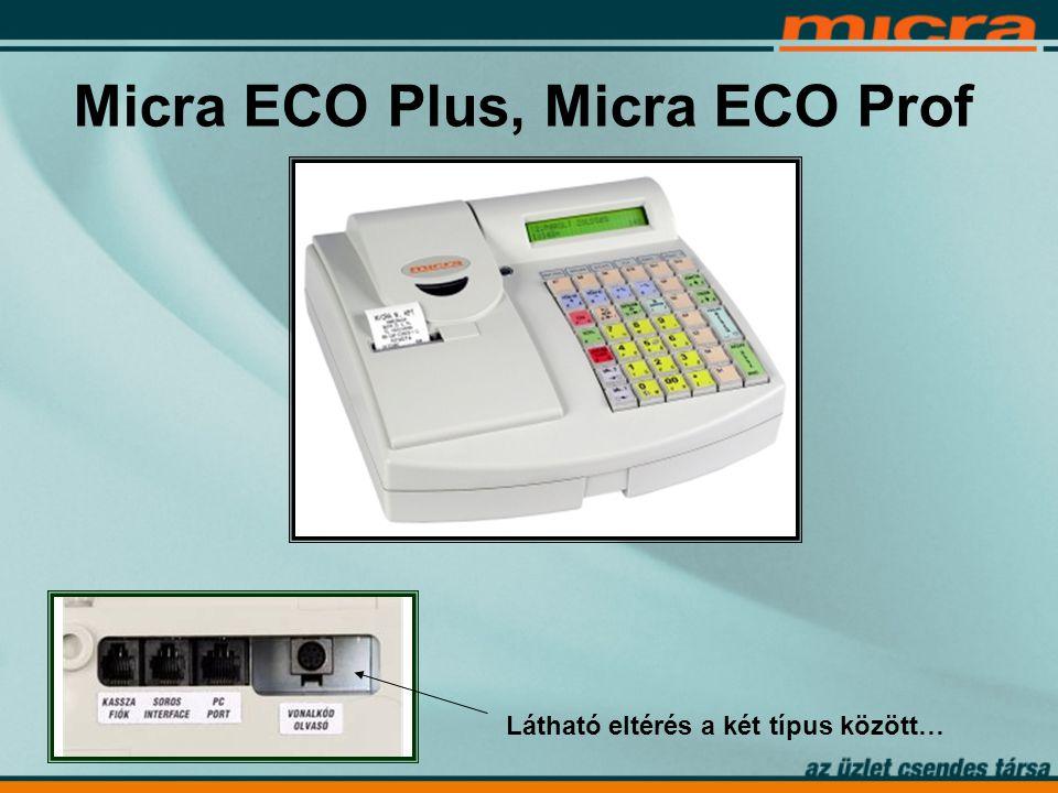 Micra ECO Plus, Micra ECO Prof Látható eltérés a két típus között…