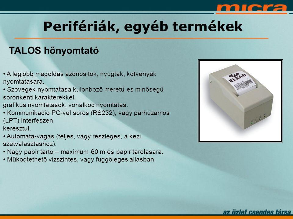 Perifériák, egyéb termékek TALOS hőnyomtató • A legjobb megoldas azonositok, nyugtak, kotvenyek nyomtatasara.