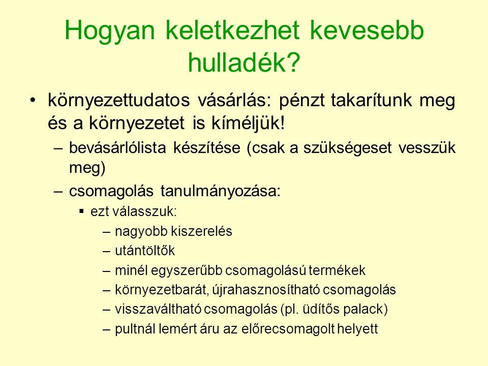Víztakarékosság •ha minden magyar polgár egy éven keresztül naponta csak egy liter vizet spórolna meg, az éves vízszükséglet 3,79 millió köbméterrel csökkenne •egy öt perces zuhanyozás közben 68 liter, kádban fürdéskor 140 litert vizet használunk el •egy rosszul záródó Wc-tartály naponta akár 700 liter vizet is elereszt