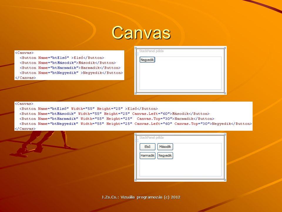 J.Zs.Cs.: Vizuális programozás (c) 2012 Canvas