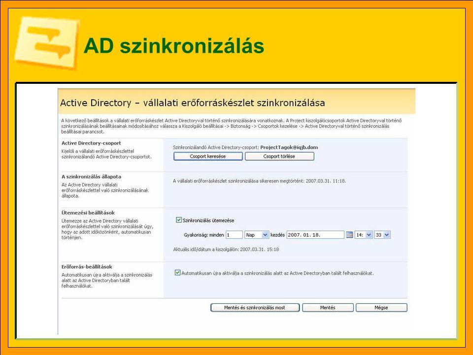 AD szinkronizálás