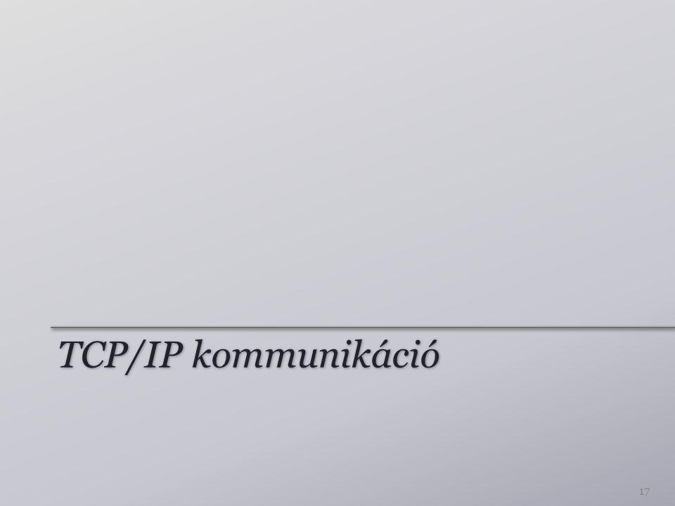 TCP/IP kommunikáció 17
