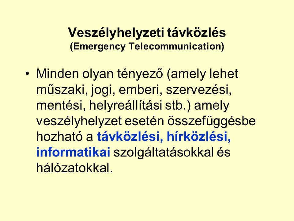 Veszélyhelyzeti távközlés Szabályozás és gyakorlat Maros Dóra (BMF) Mészáros Árpád (Magyar Telekom) 2006. május