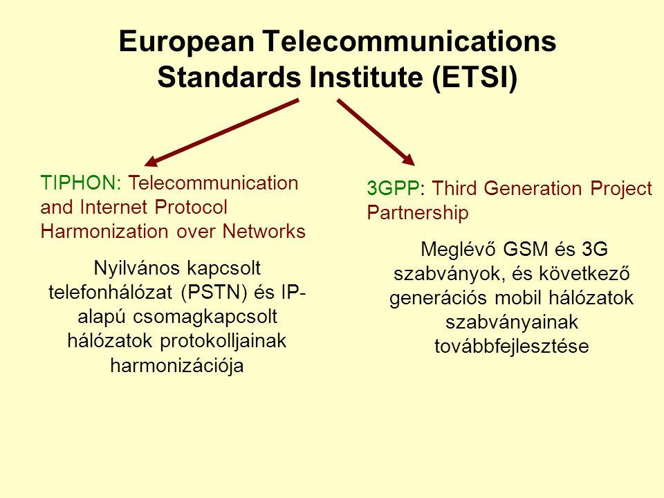 Internet Engineering Task Force (IETF) Specifikációk, szabványok előterjesztése az Internet- szabványok továbbfejlesztésére Internet-Drafts (IDs): Fir