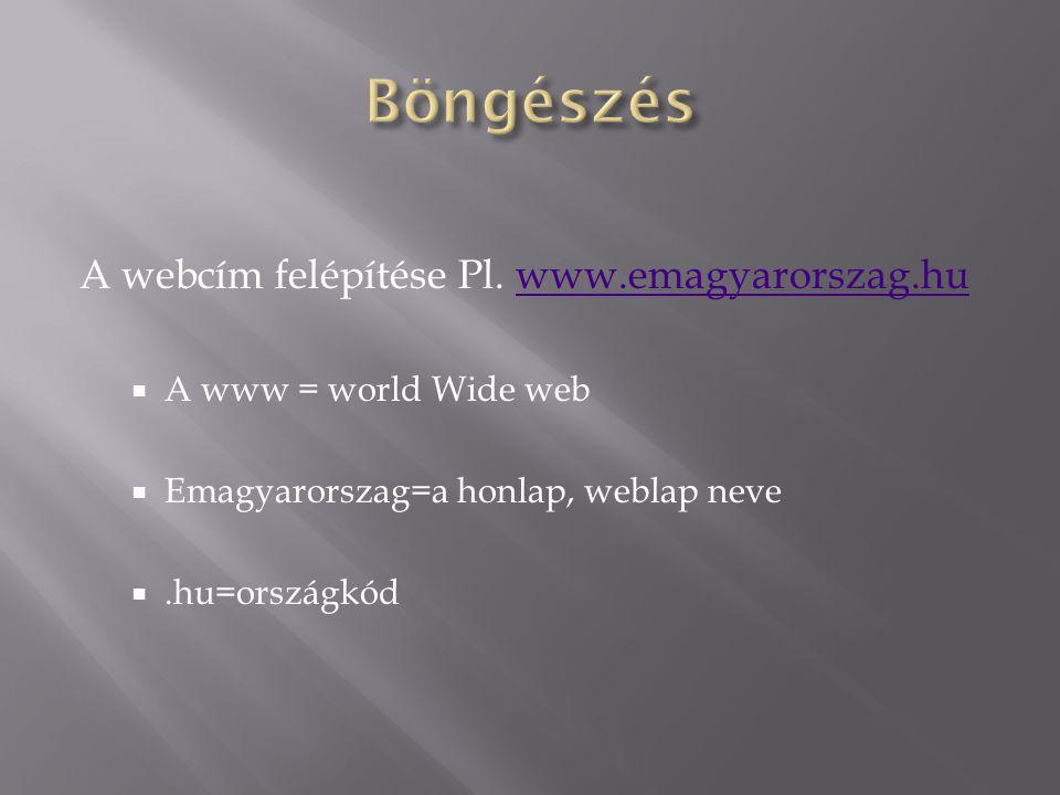 A webcím felépítése Pl.