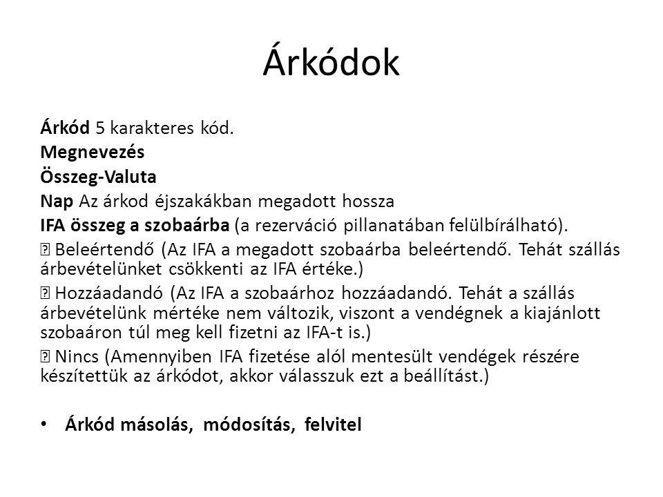 Árkódok Árkód 5 karakteres kód.