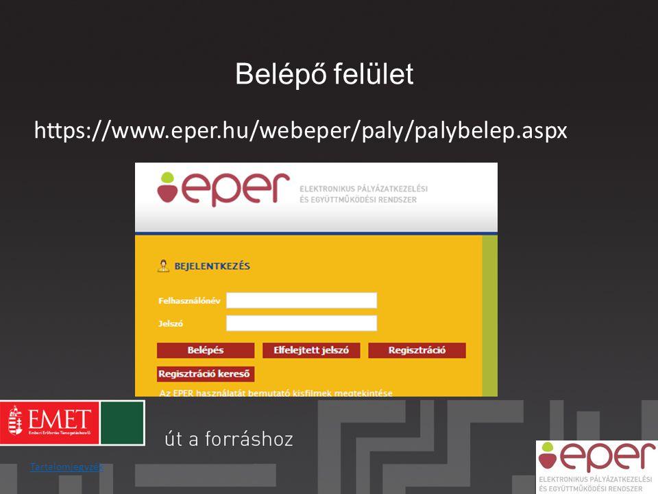 Az EPER további funkciói Dokumentum beküldő • Az ún.
