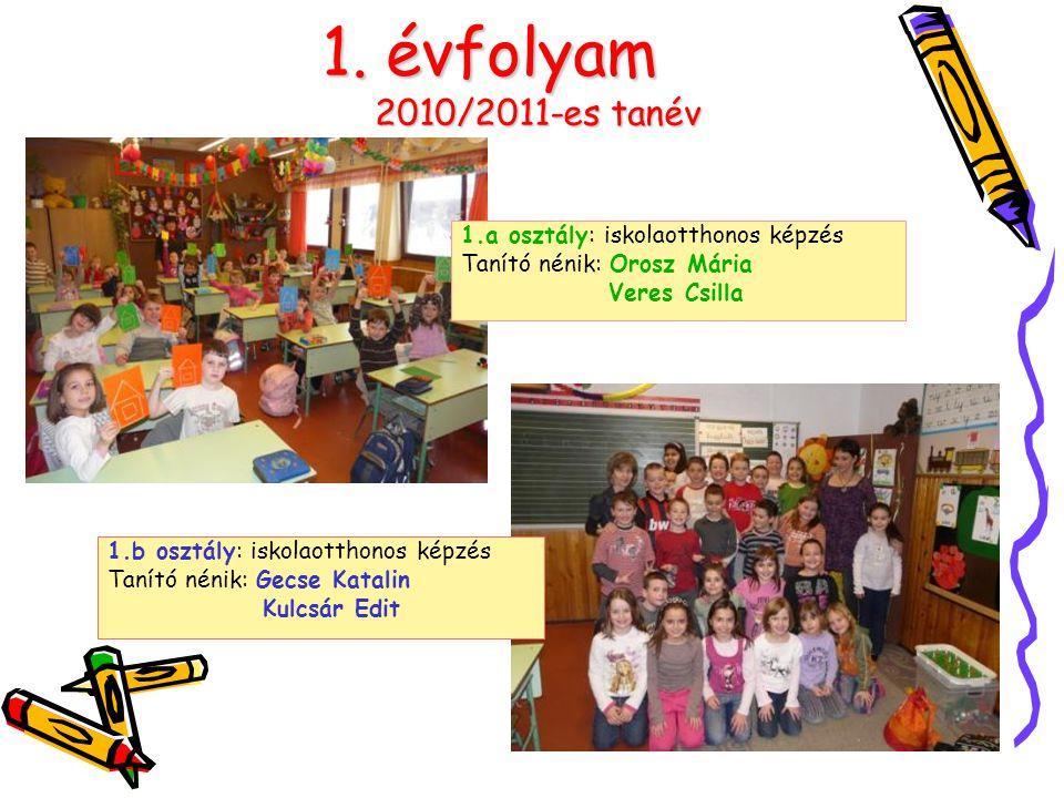 1. évfolyam 2010/2011-es tanév 1.a osztály: iskolaotthonos képzés Tanító nénik: Orosz Mária Veres Csilla 1.b osztály: iskolaotthonos képzés Tanító nén