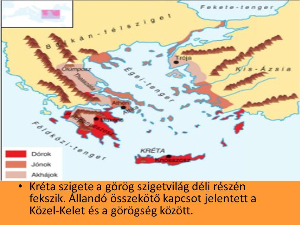 •K•Kréta szigete a görög szigetvilág déli részén fekszik.
