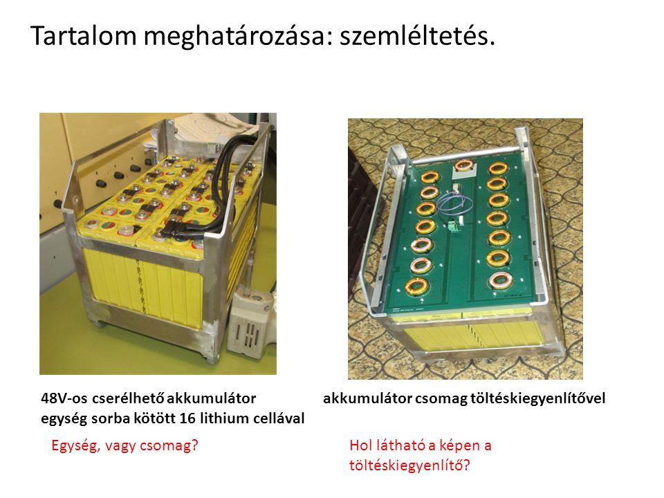 akkumulátor csomag töltéskiegyenlítővel48V-os cserélhető akkumulátor egység sorba kötött 16 lithium cellával Egység, vagy csomag?Hol látható a képen a