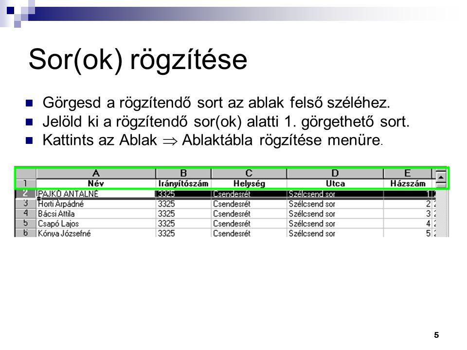 16  Nyissuk meg a szamtech - zeusz' (Y:)\Excel mappában lévő PL4_2.XLS fájlt.