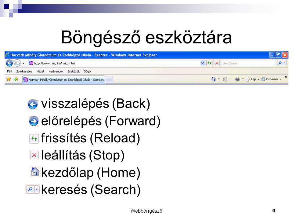 Webböngésző15 Internet beállítások  Programok  Internetes programok  Alapértelmezett böngésző  Bővítmények kezelése