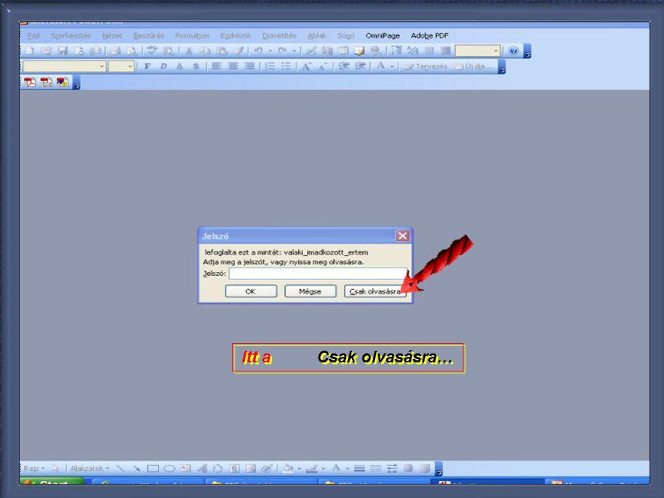 Az első képpel megnyílt a ppt (pps) de a vetítés a piros nyillal jelölt ikonnal jellel indúl.!