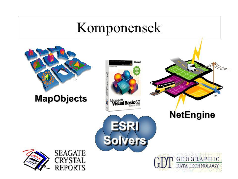 Komponensek MapObjects NetEngine ESRISolversESRISolvers
