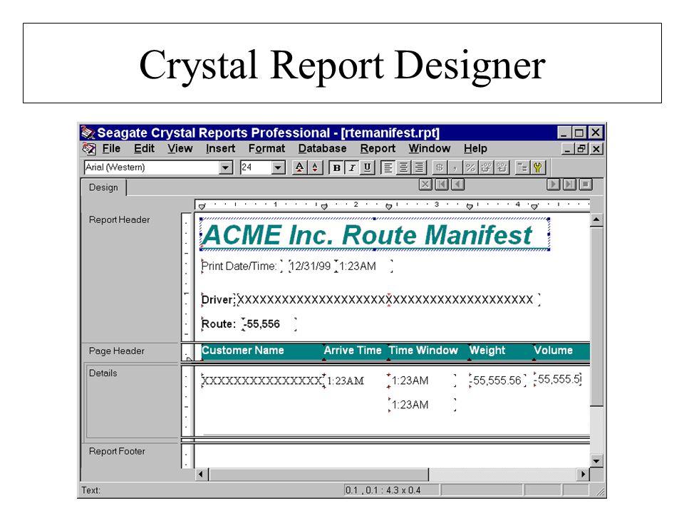 Crystal Report Designer
