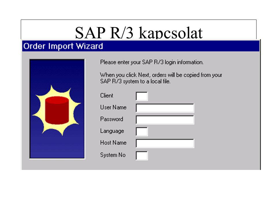 SAP R/3 kapcsolat