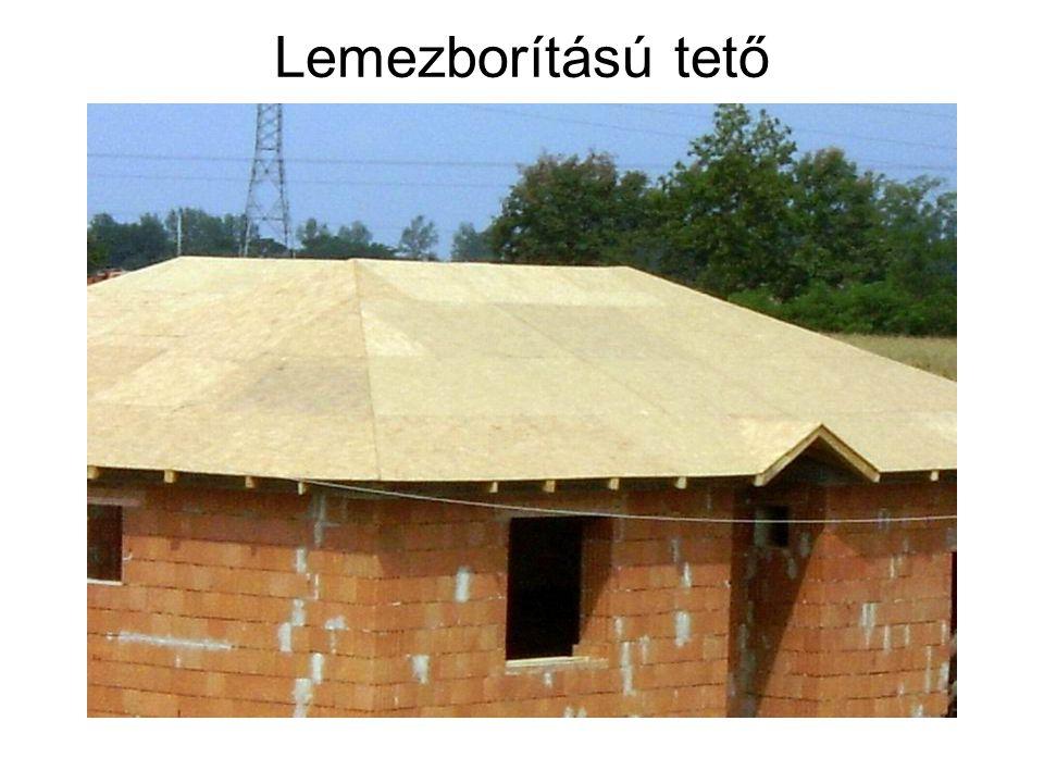 Lemezborítású tető