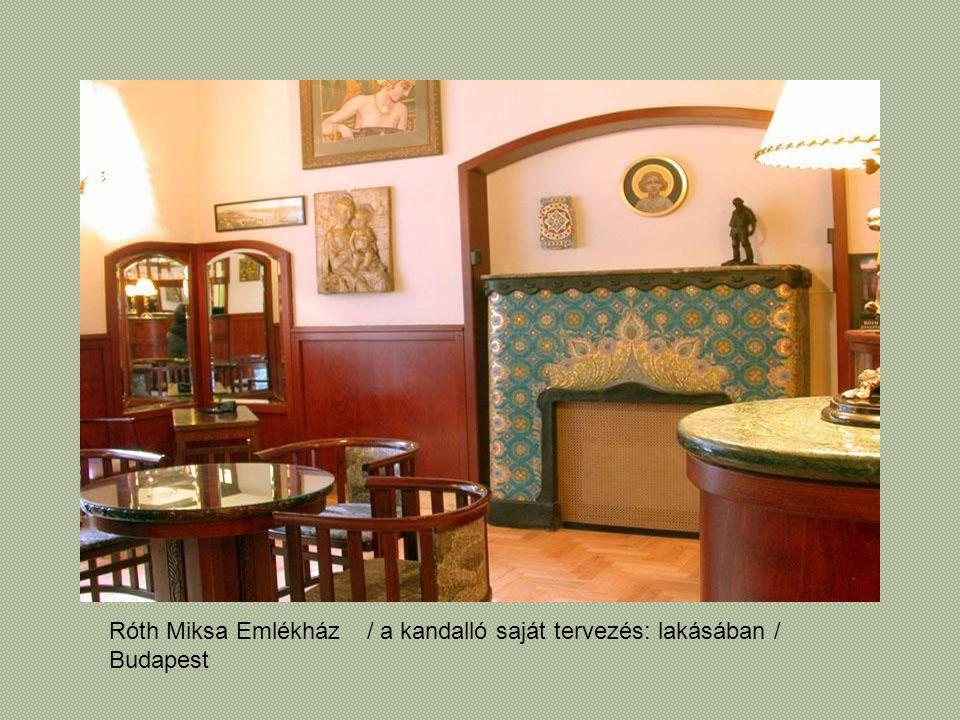 Róth Miksa Emlékház Budapest / a kandalló saját tervezés: lakásában /