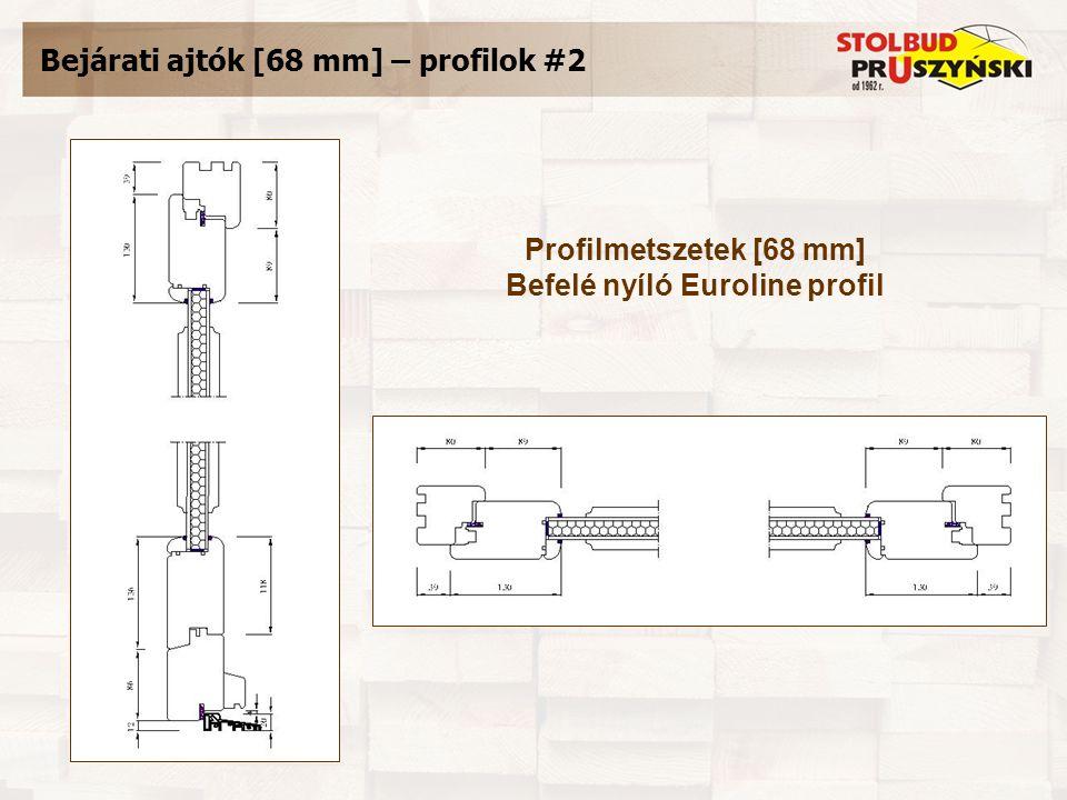 Bejárati ajtók [68 mm] – profilok #2 Profilmetszetek [68 mm] Befelé nyíló Euroline profil