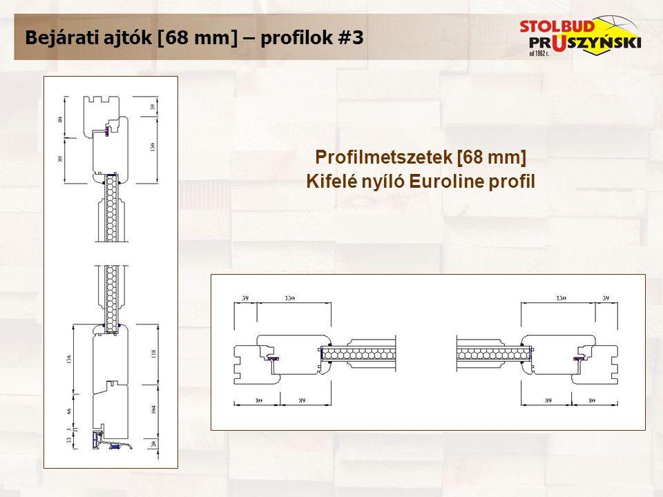 Bejárati ajtók [68 mm] – profilok #3 Profilmetszetek [68 mm] Kifelé nyíló Euroline profil