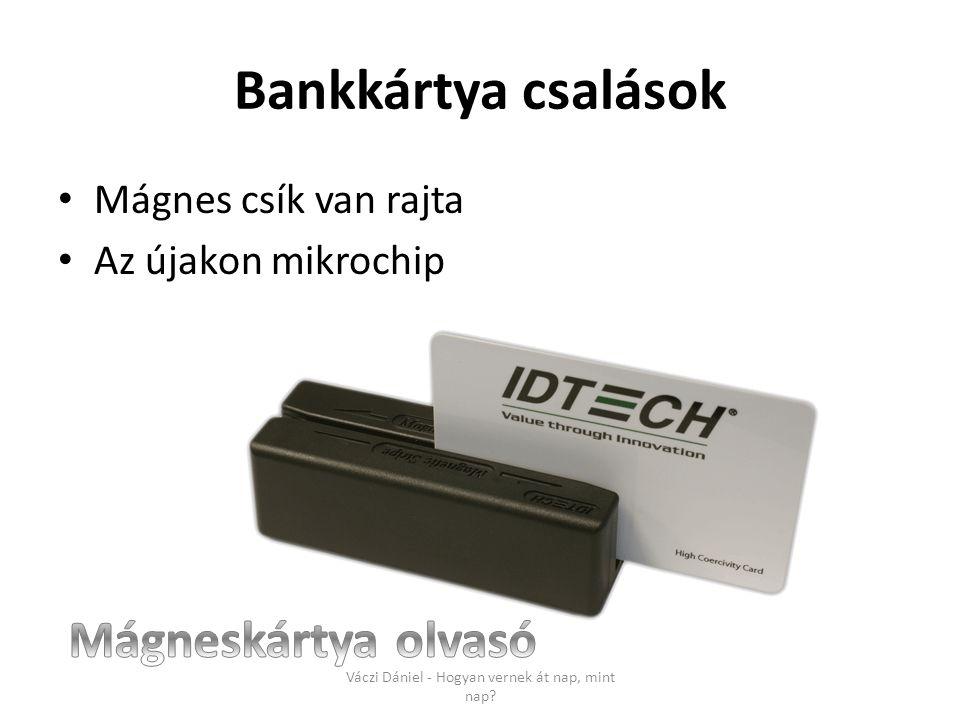 Bankkártya csalások • Mágnes csík van rajta • Az újakon mikrochip Váczi Dániel - Hogyan vernek át nap, mint nap?