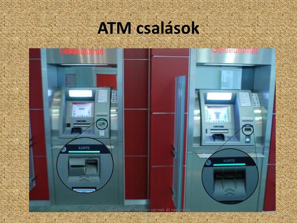 ATM csalások Váczi Dániel - Hogyan vernek át nap, mint nap?