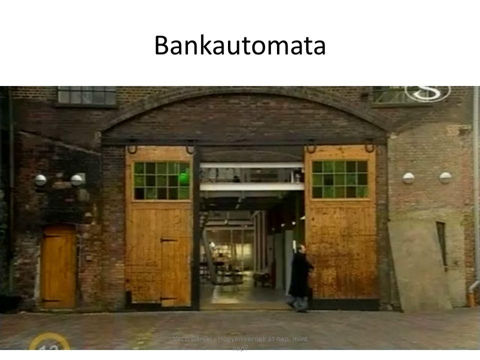 Bankautomata Váczi Dániel - Hogyan vernek át nap, mint nap?