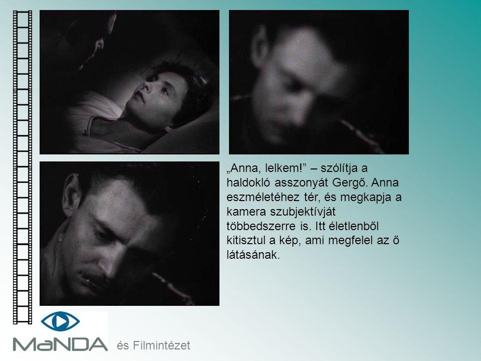 """és Filmintézet """"Anna, lelkem!"""" – szólítja a haldokló asszonyát Gergő. Anna eszméletéhez tér, és megkapja a kamera szubjektívját többedszerre is. Itt é"""