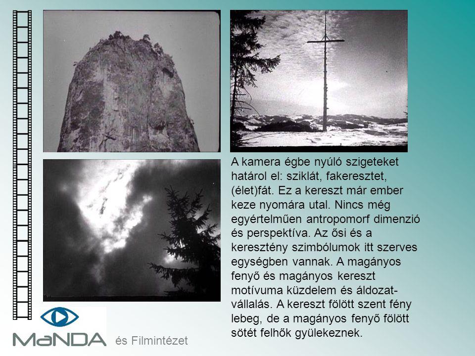 és Filmintézet A kamera égbe nyúló szigeteket határol el: sziklát, fakeresztet, (élet)fát. Ez a kereszt már ember keze nyomára utal. Nincs még egyérte