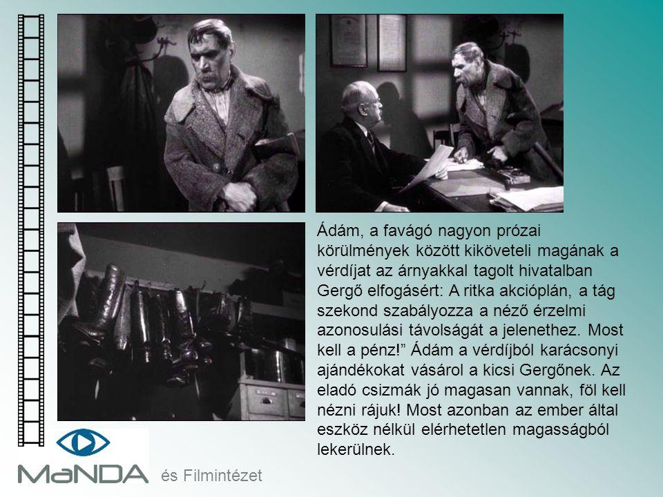 és Filmintézet Ádám, a favágó nagyon prózai körülmények között kiköveteli magának a vérdíjat az árnyakkal tagolt hivatalban Gergő elfogásért: A ritka